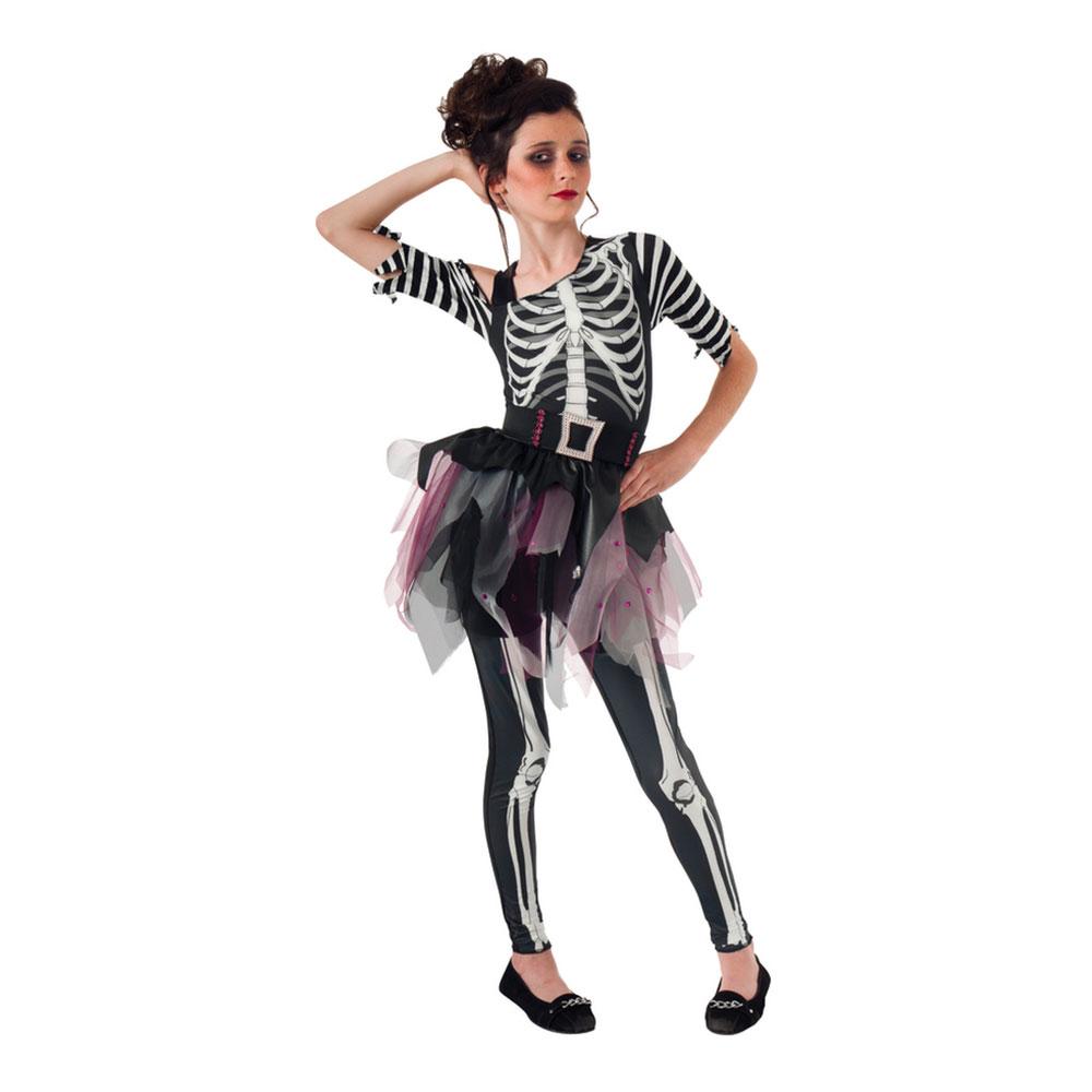 Skelett Ballerina Barn Maskeraddräkt - Small