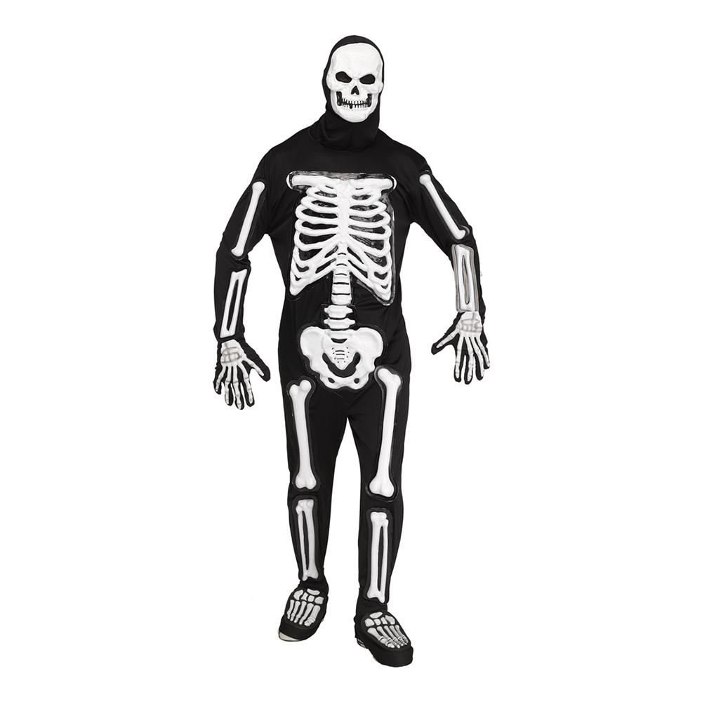 Skelett Deluxe Maskeraddräkt - One size