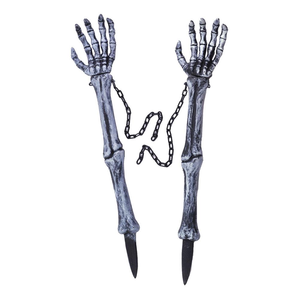 Skeletthänder på Pinne