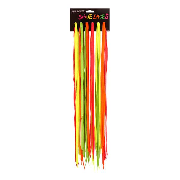 Skosnören Neonfärgade - 24-pack