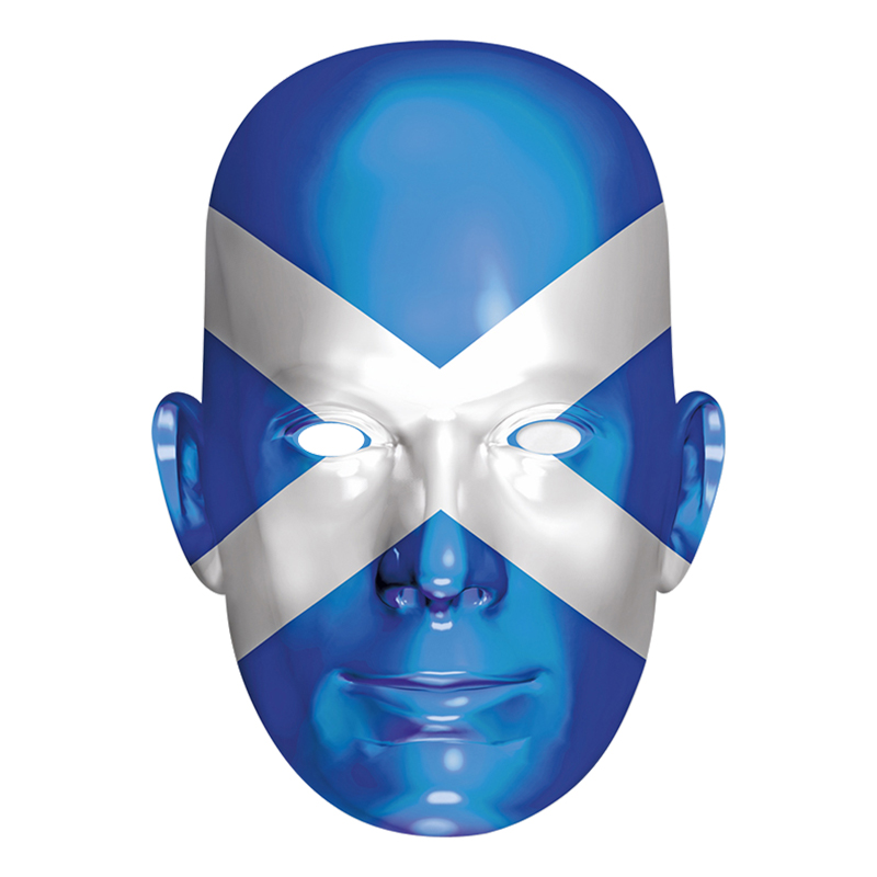 Skottlands Flagga Pappmask