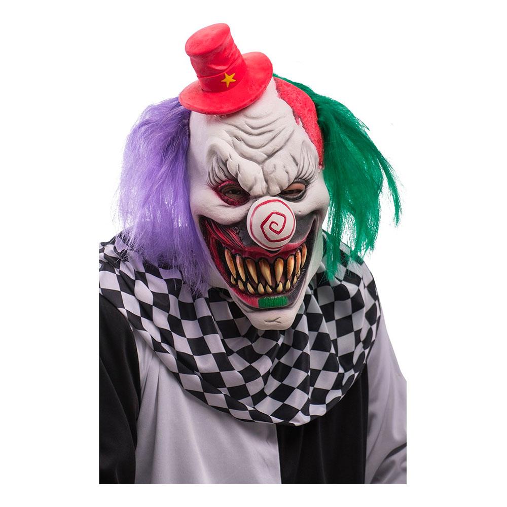Skräckclown Mask med Hår - One size