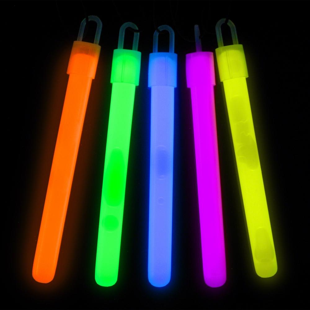 Slim Glowstick Halsband - Blå