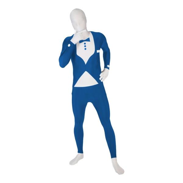 Morphsuit Smoking Blå Maskeraddräkt - X-Large