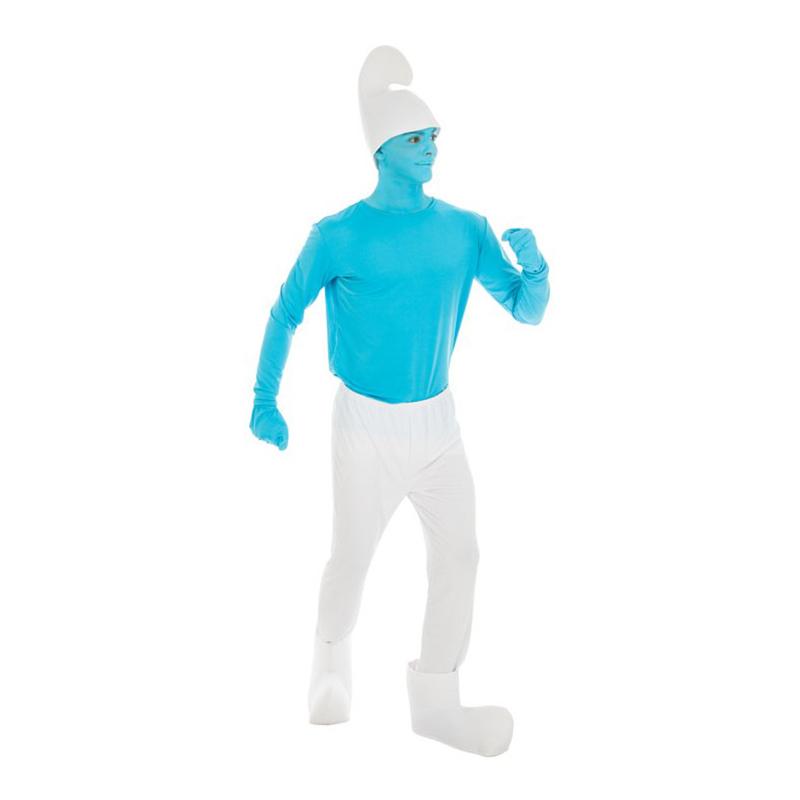 Smurf Deluxe Maskeraddräkt - Medium
