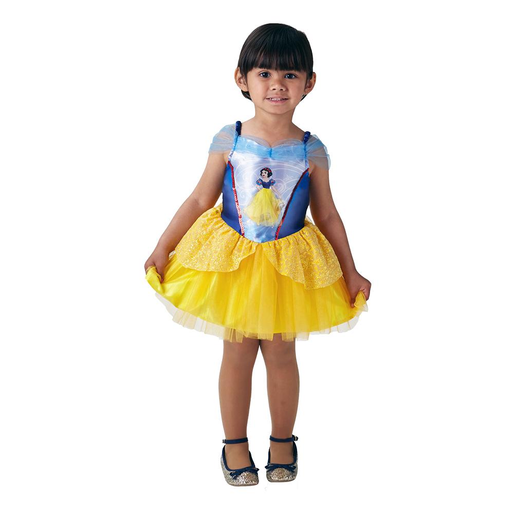 Snövit Ballerinaklänning Barn Maskeraddräkt - Medium