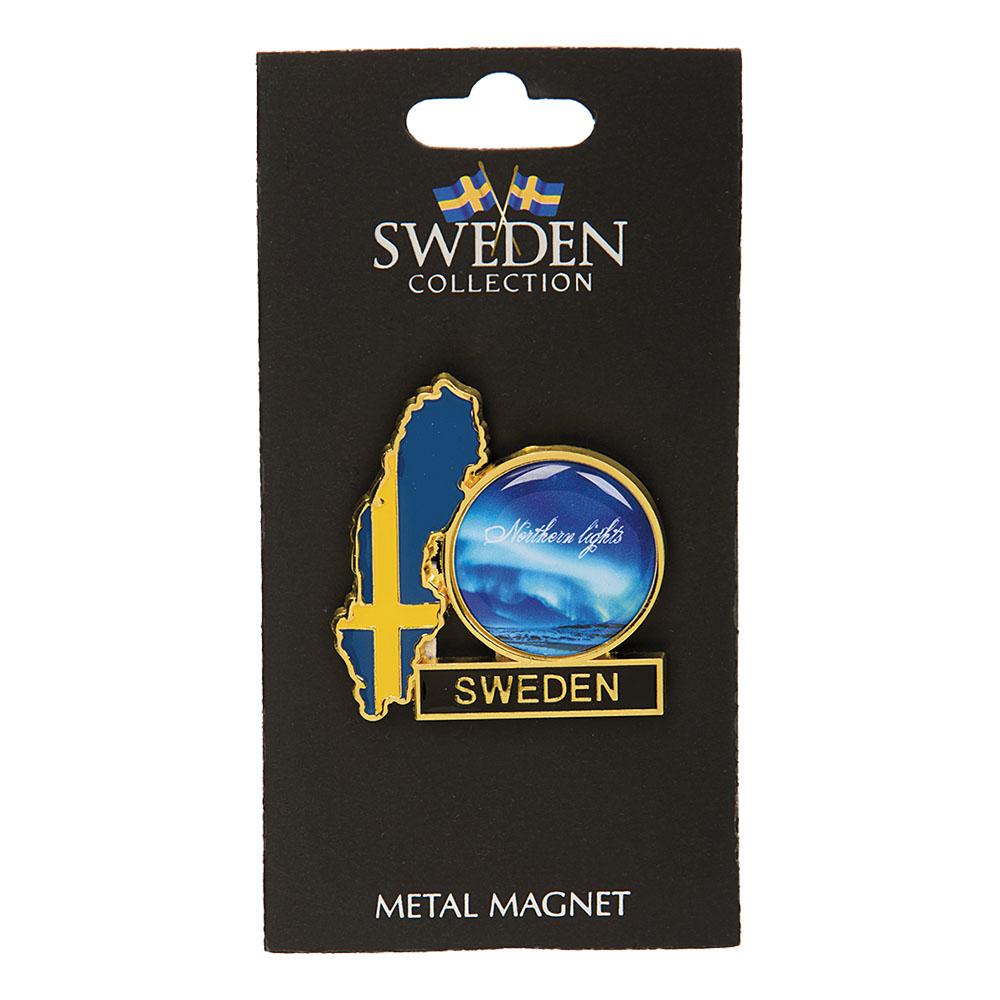 Souvenir Kylskåpsmagnet Northern Lights Sweden