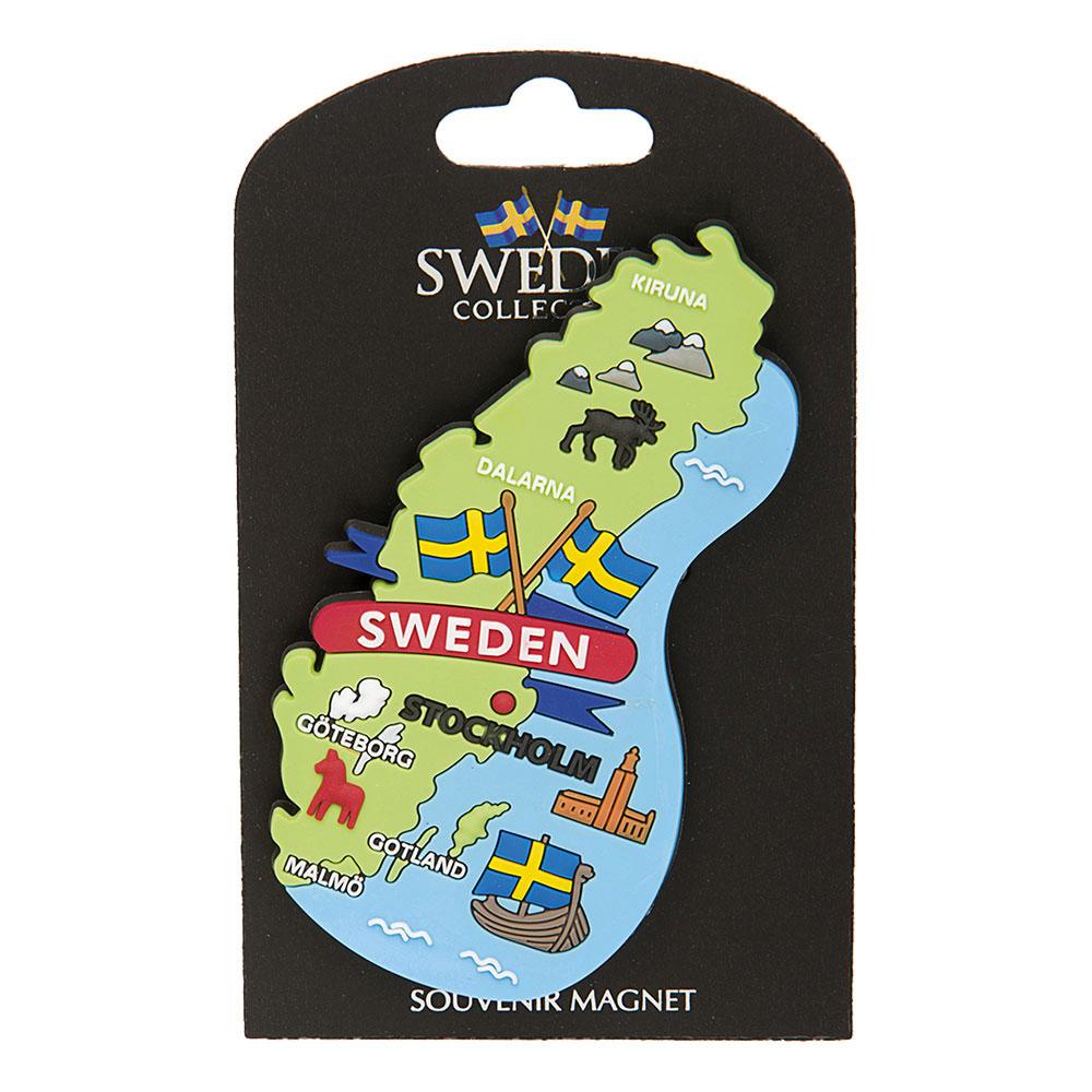 Souvenir Magnet Sweden Karta