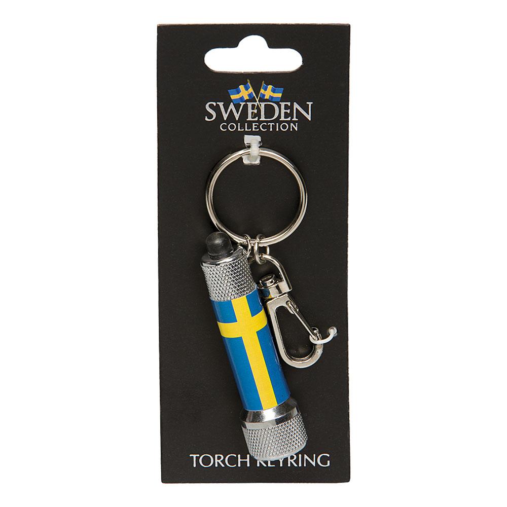 Souvenir Nyckelring Lampa Sweden