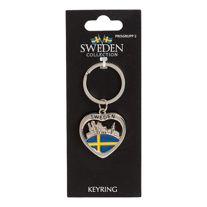 Souvenir Nyckelring Sweden City
