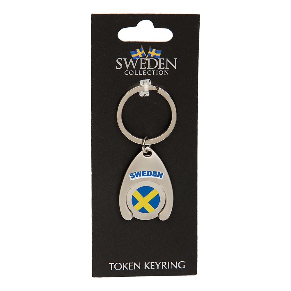 Souvenir Nyckelring Token Sweden