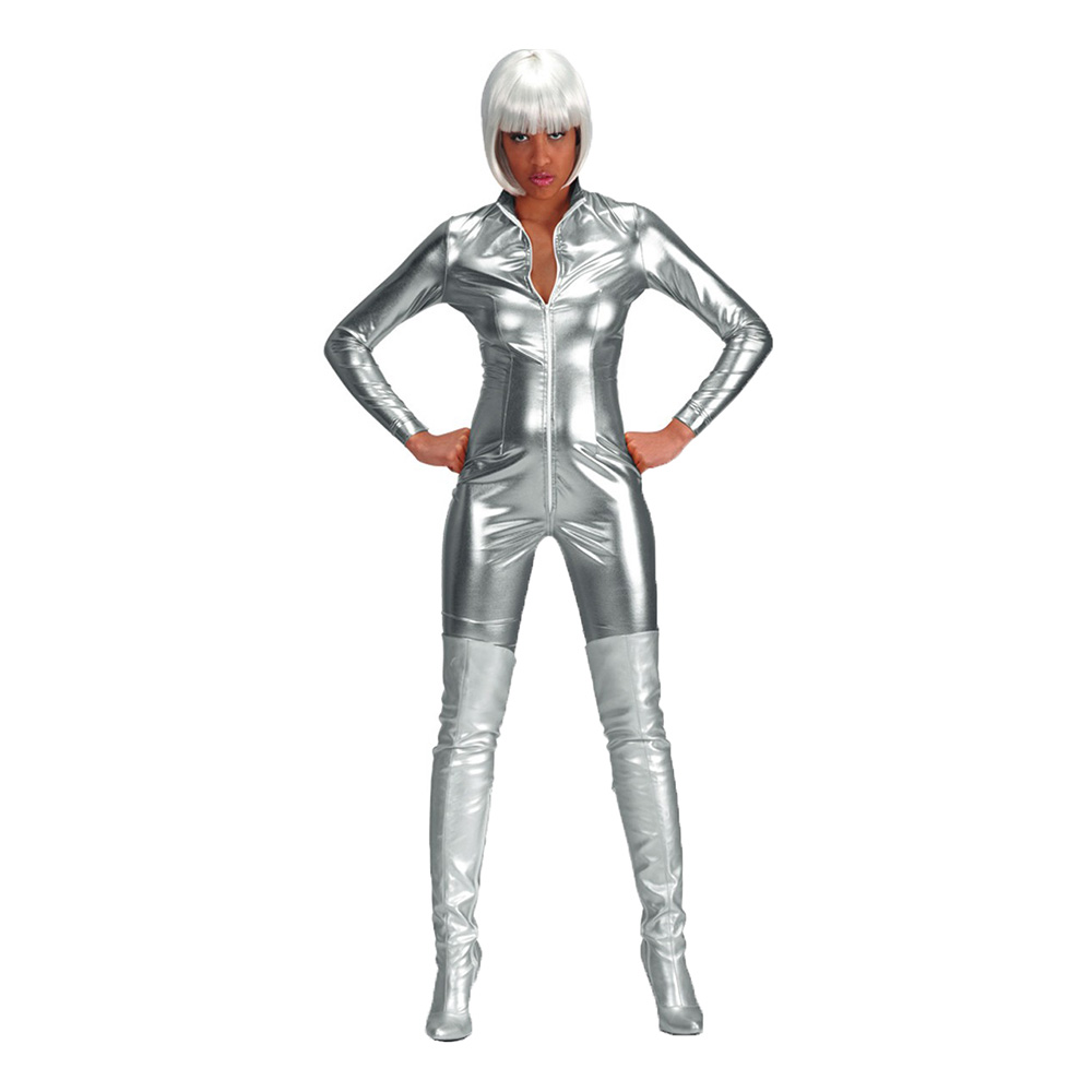 Space Girl Silver Bodysuit - One size