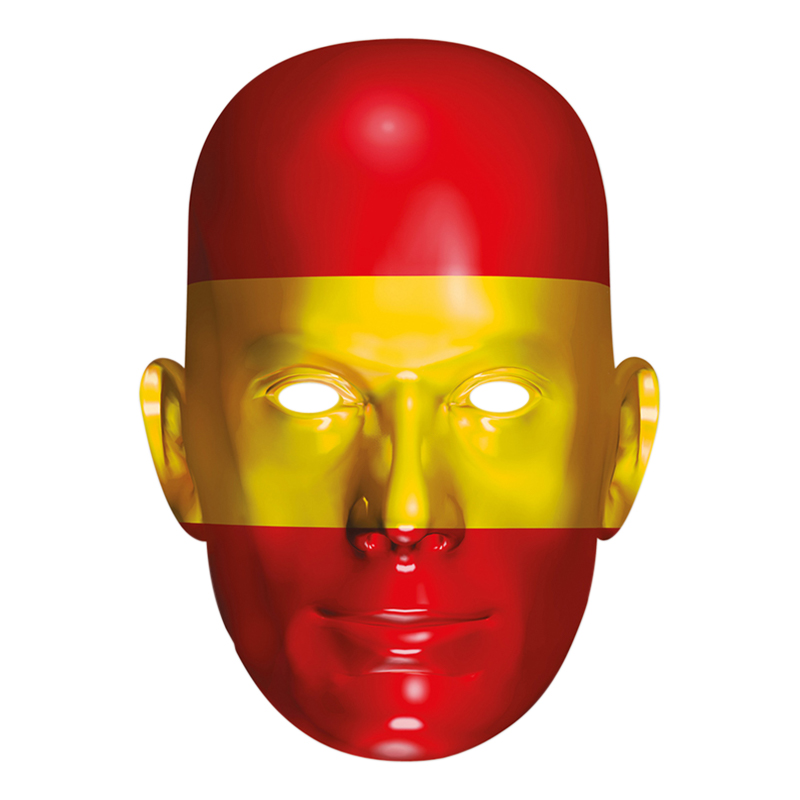Spaniens Flagga Pappmask