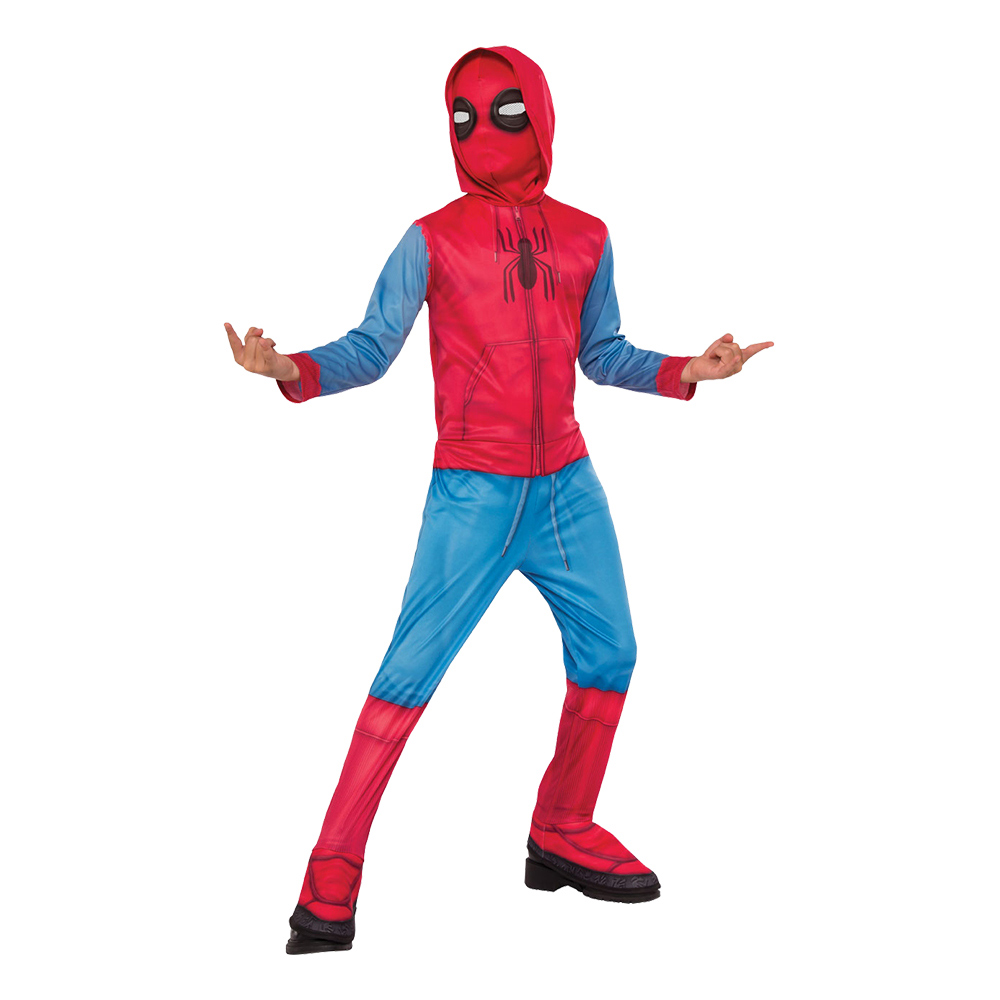 Spider-Man med Hoodie Barn Maskeraddräkt - Small
