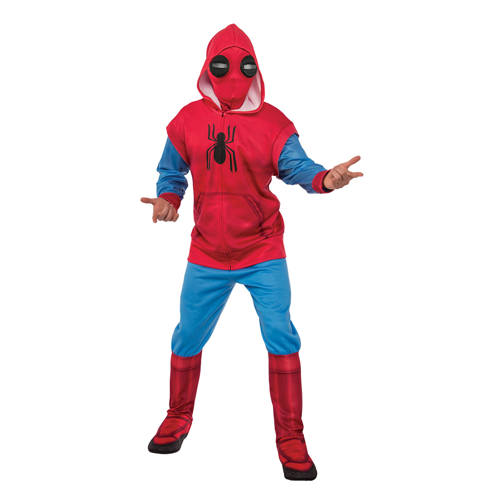Spider-Man med Hoodie Maskeraddräkt - Standard
