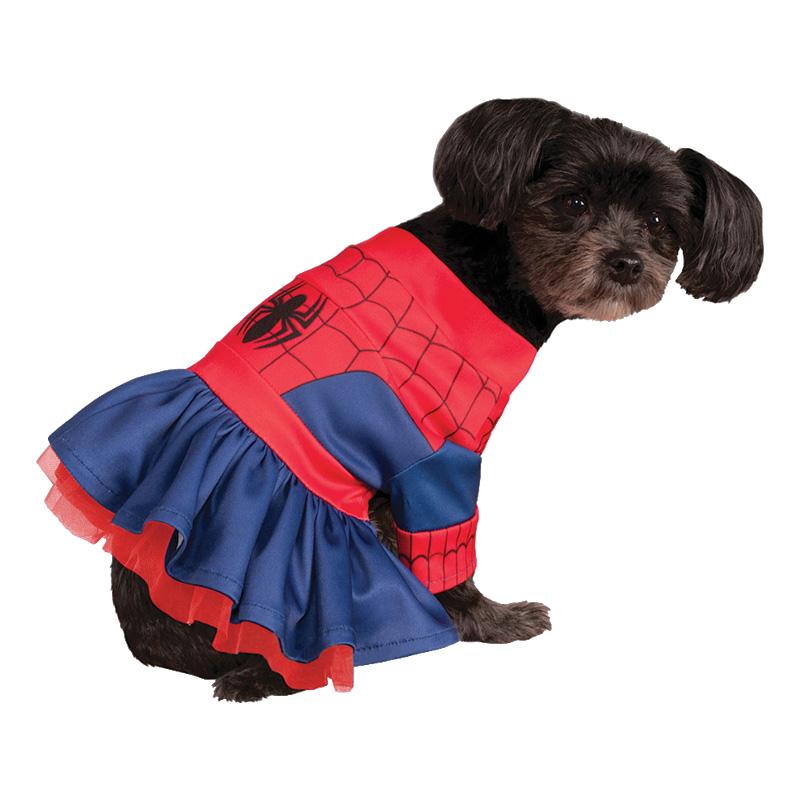 Spidergirl Hund Maskeraddräkt - X-Small till partypris ... 5fe8aec9683c0