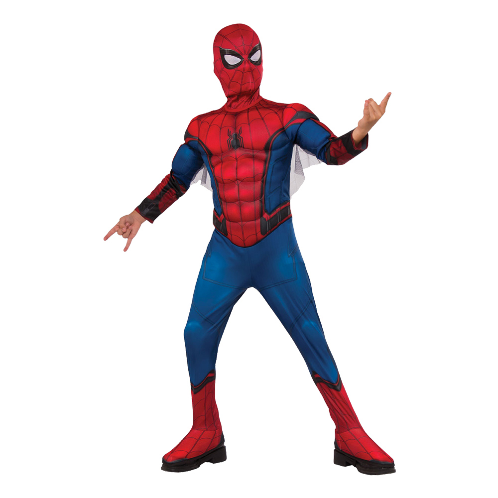 Spiderman Homecoming Deluxe Barn Maskeraddräkt - Small