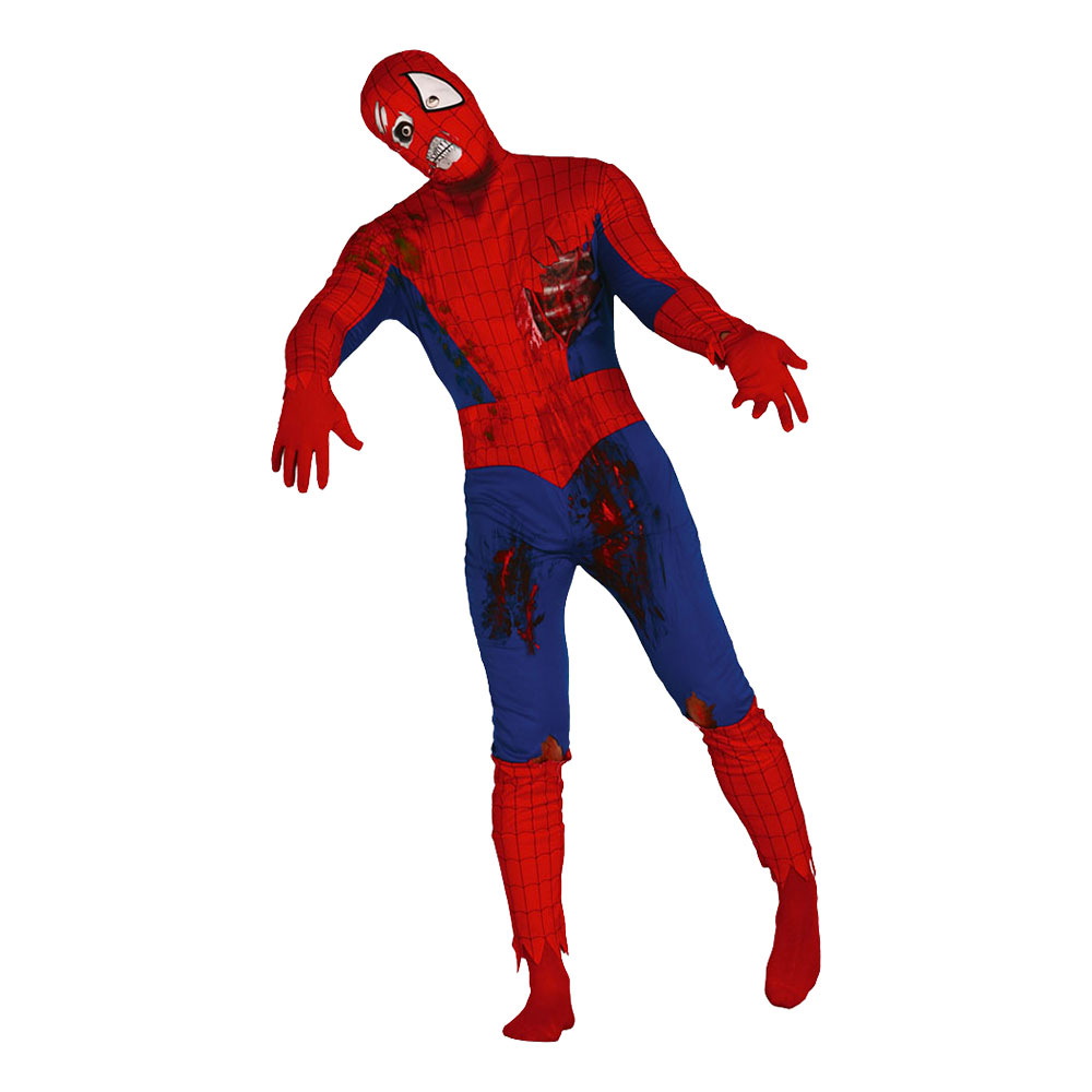 Spiderman Zombie Maskeraddräkt - Medium