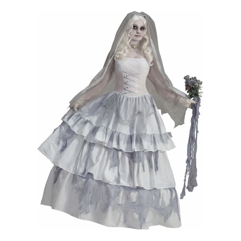 Spökbrud Deluxe Maskeraddräkt - One size