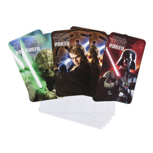 Star Wars Inbjudningskort - 6-pack
