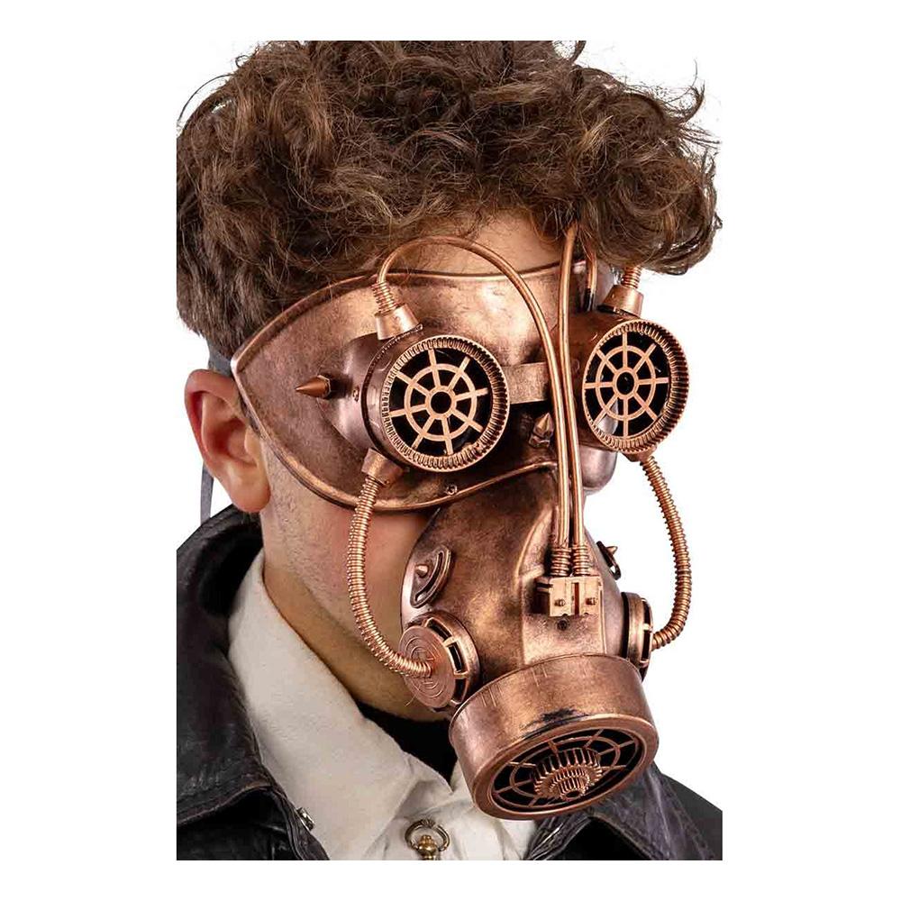 Steampunk Gasmask Koppar - One size