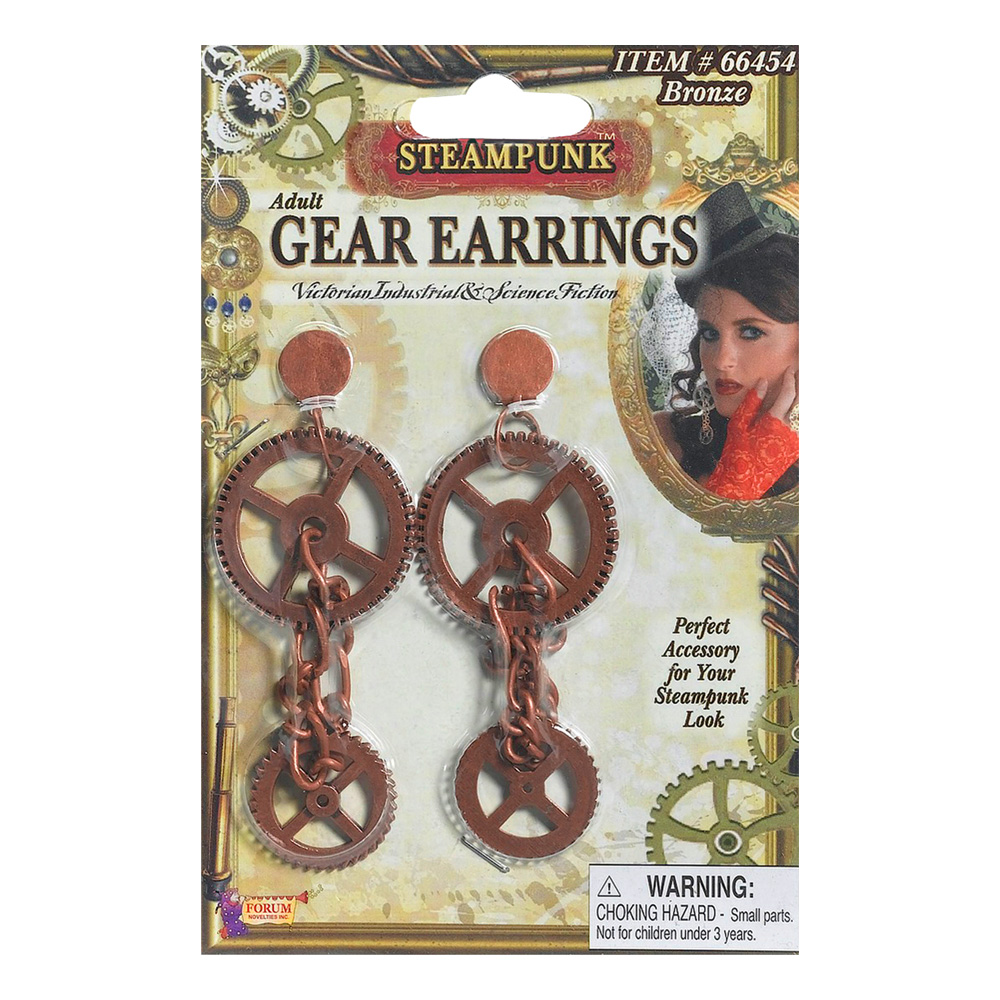 Steampunk Kugghjulörhängen