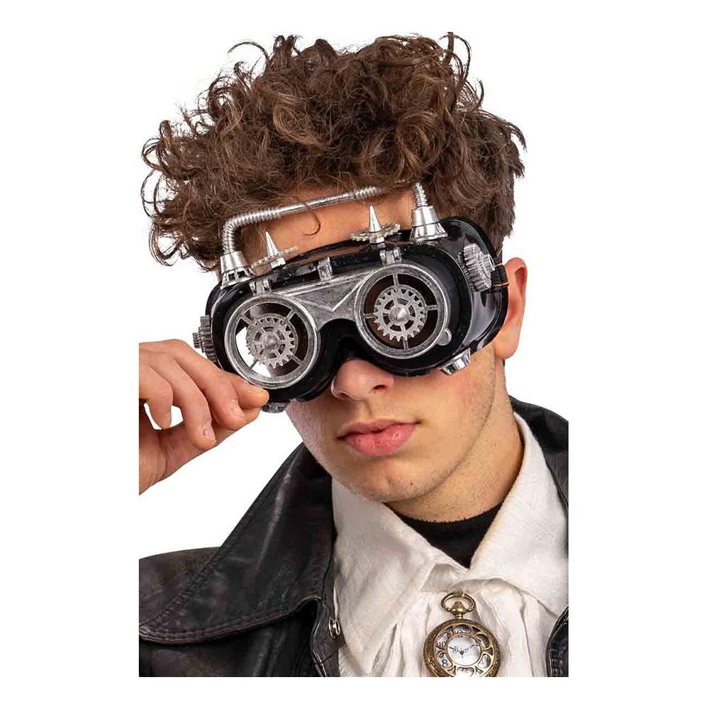 Steampunk Ögonmask Silver - One size