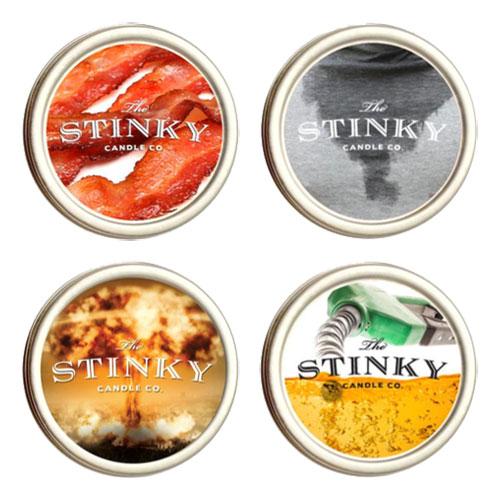 Stinky Candles Doftljus - Bensin thumbnail