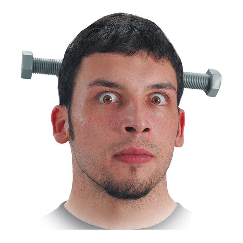 Lång Skruv Genom Huvudet - One size