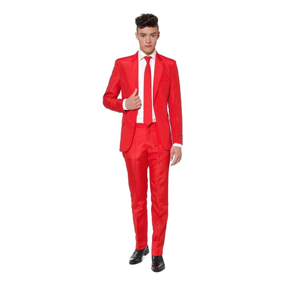 Suitmeister Röd Kostym - Large
