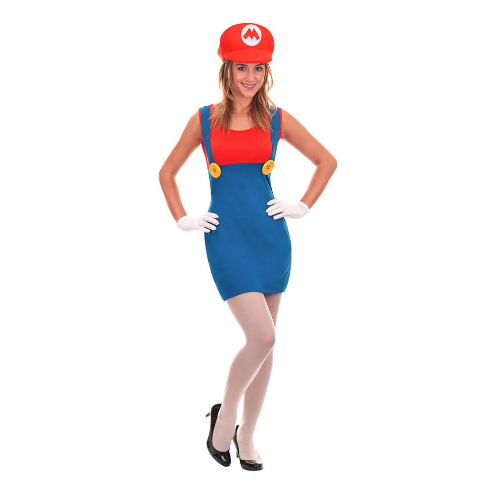 Super Mario Dam Maskeraddräkt - X-Small