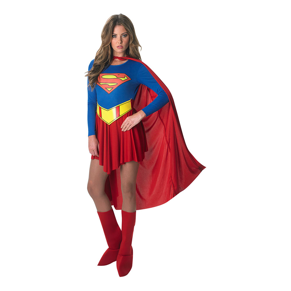 Supergirl Klassisk Maskeraddräkt - Medium