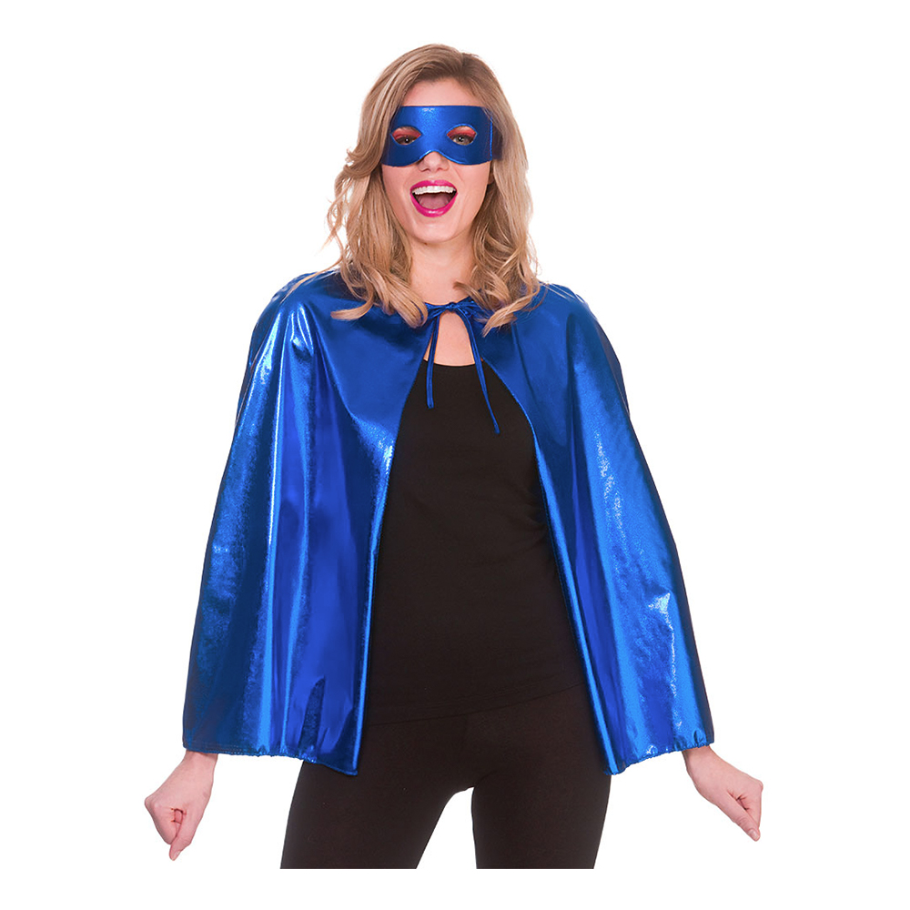 Superhjälte Tillbehörsset Blå Metallic - One size