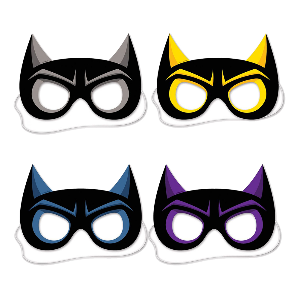 Superhjältemasker Bat i Papp - 4-pack