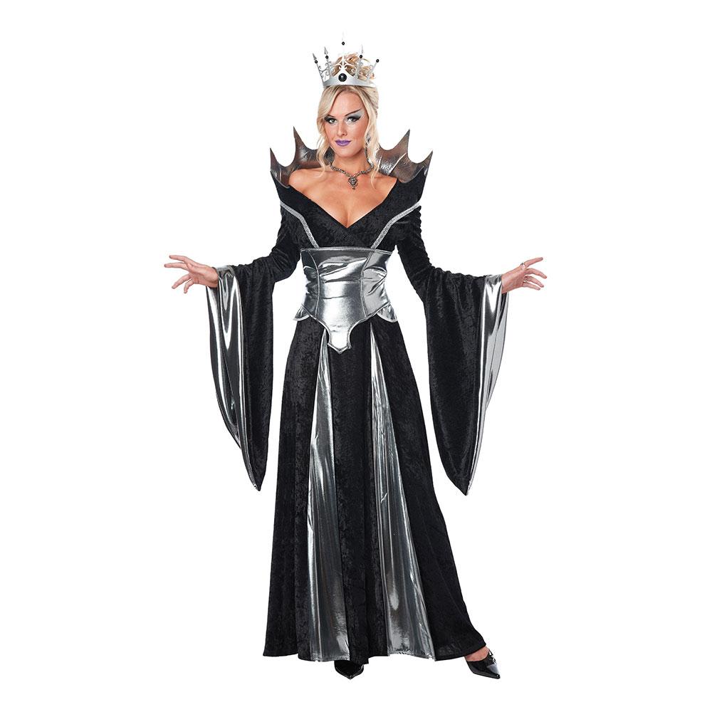 Svart Drottning Maskeraddräkt - X-Small