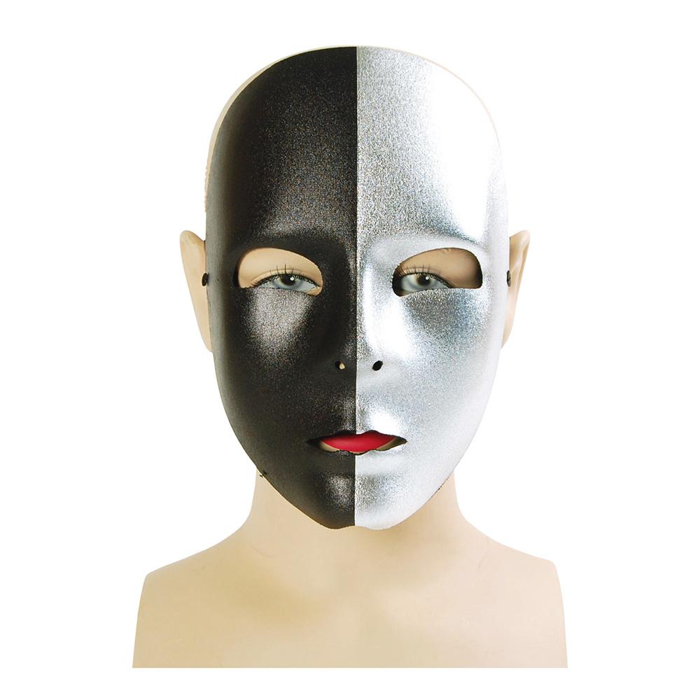Svart/Silvrig Ansiktsmask - One size
