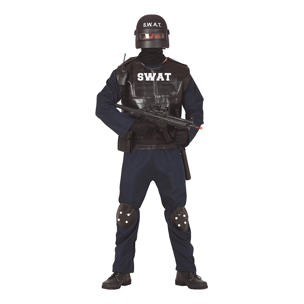 S.W.A.T Maskeraddräkt - Medium