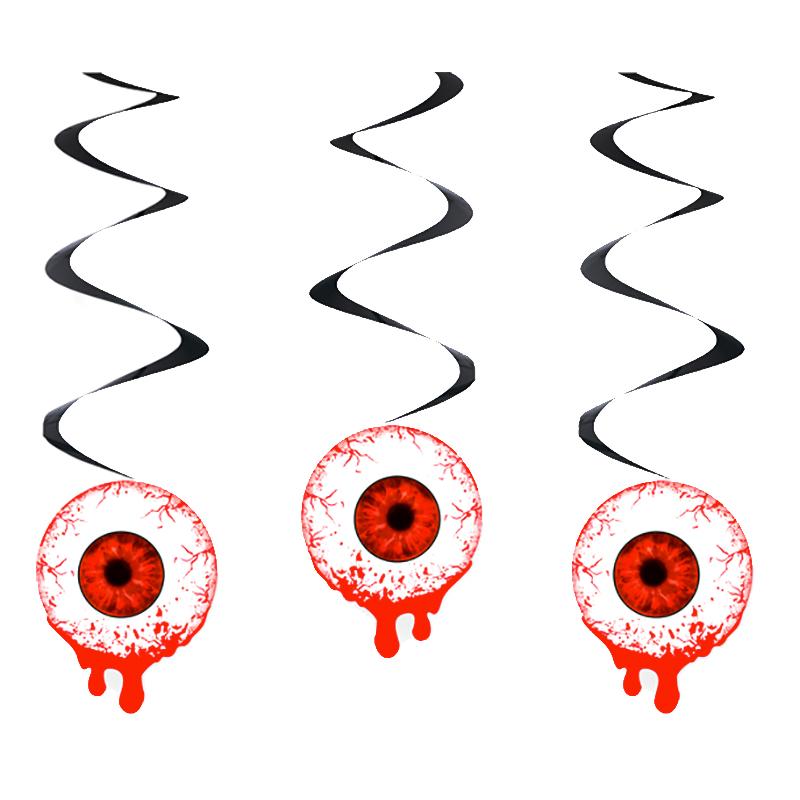 Swirls Blodiga Ögon Hängande Dekoration
