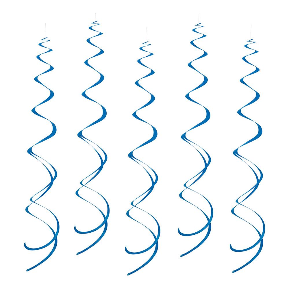 Swirls Mörkblåa Hängande Dekoration - 8-pack