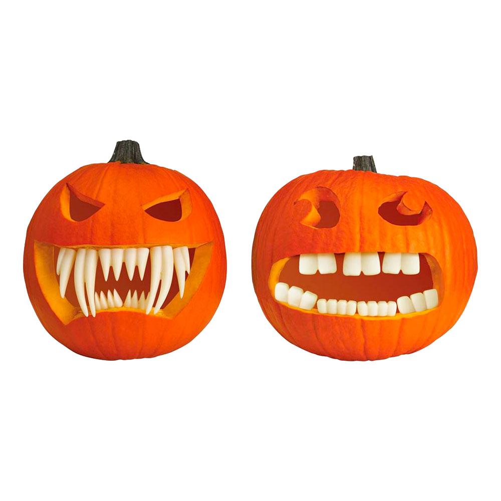 Tänder Dekoration till Pumpa - 1-pack