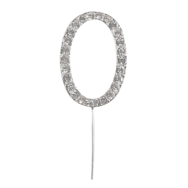 Tårtdekoration Bokstav Diamant i Metall - Bokstav O