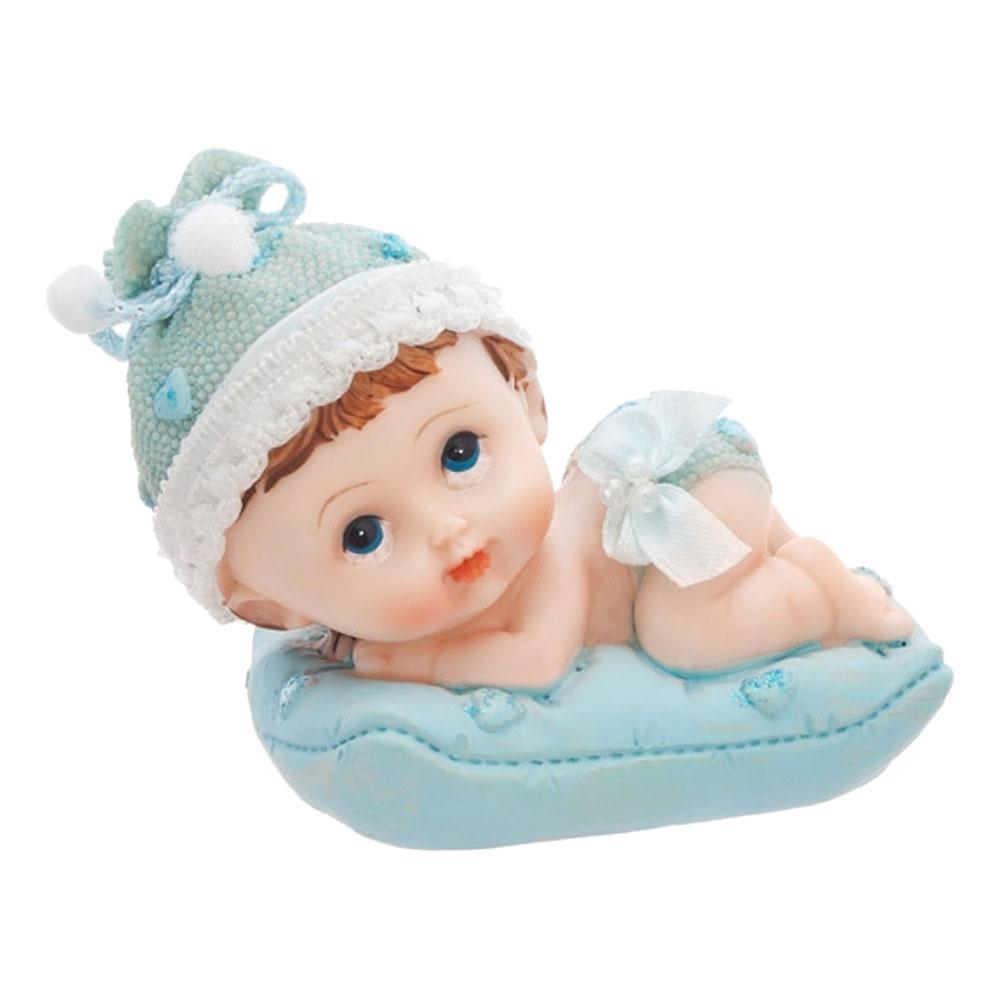 Tårtfigur Bebispojke på Kudde