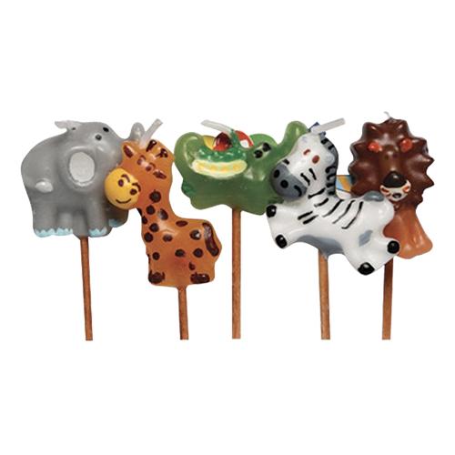 Tårtljus Djungeldjur - 5-pack
