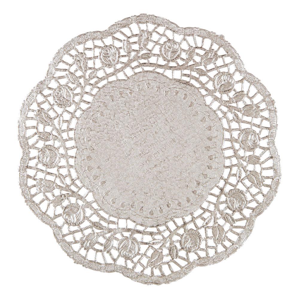 Tårtunderlägg Runda Silver - 4-pack