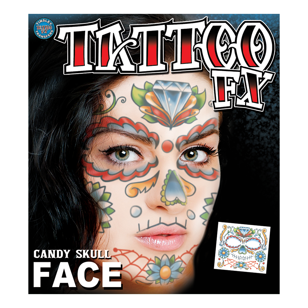 Tattoo FX Candy Scull Face