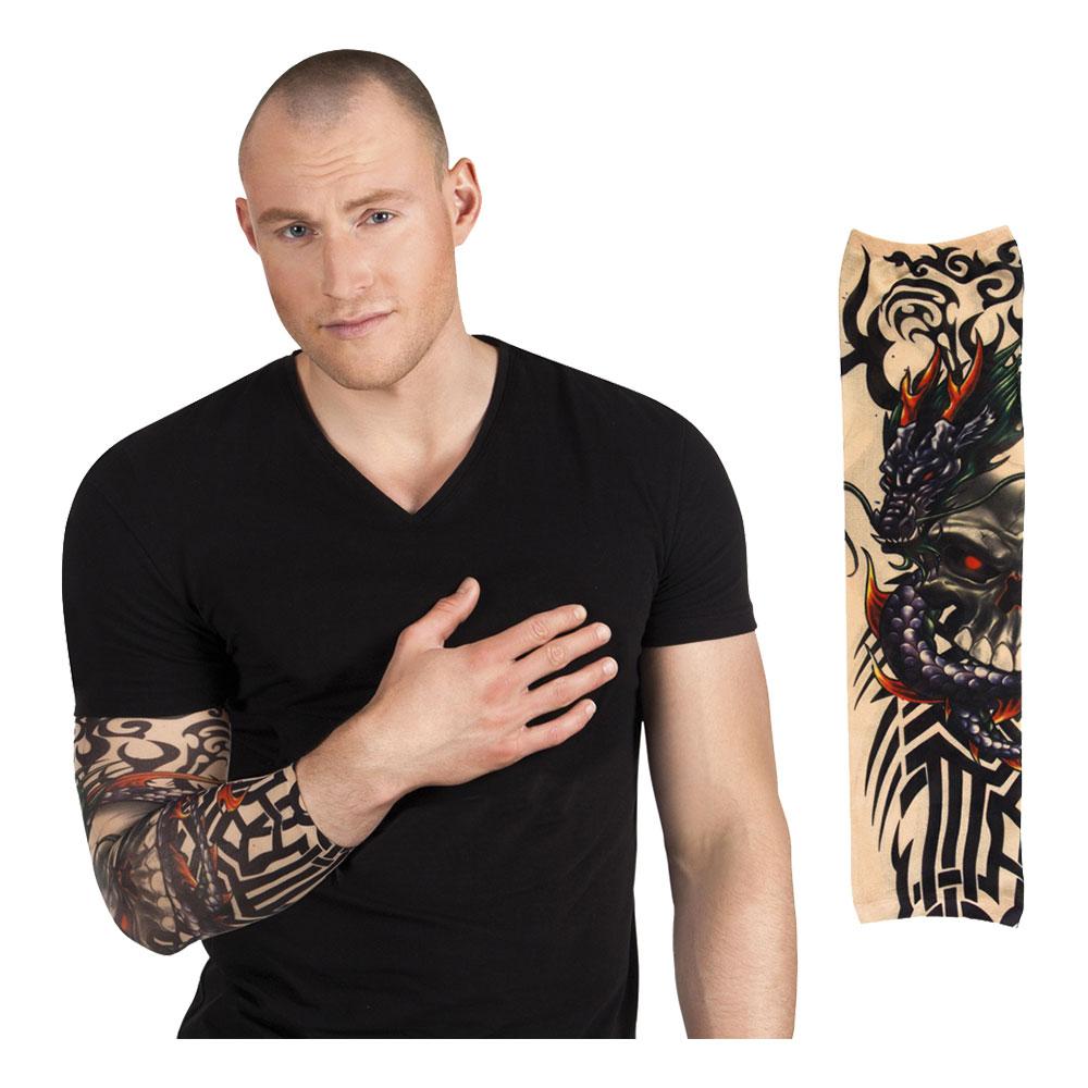 Tatueringsärm Dragon Skull