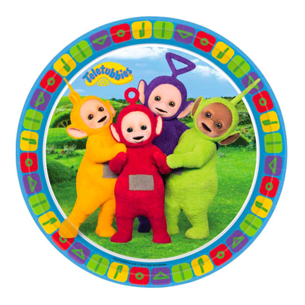 Teletubbies Pappersassietter - 8-pack