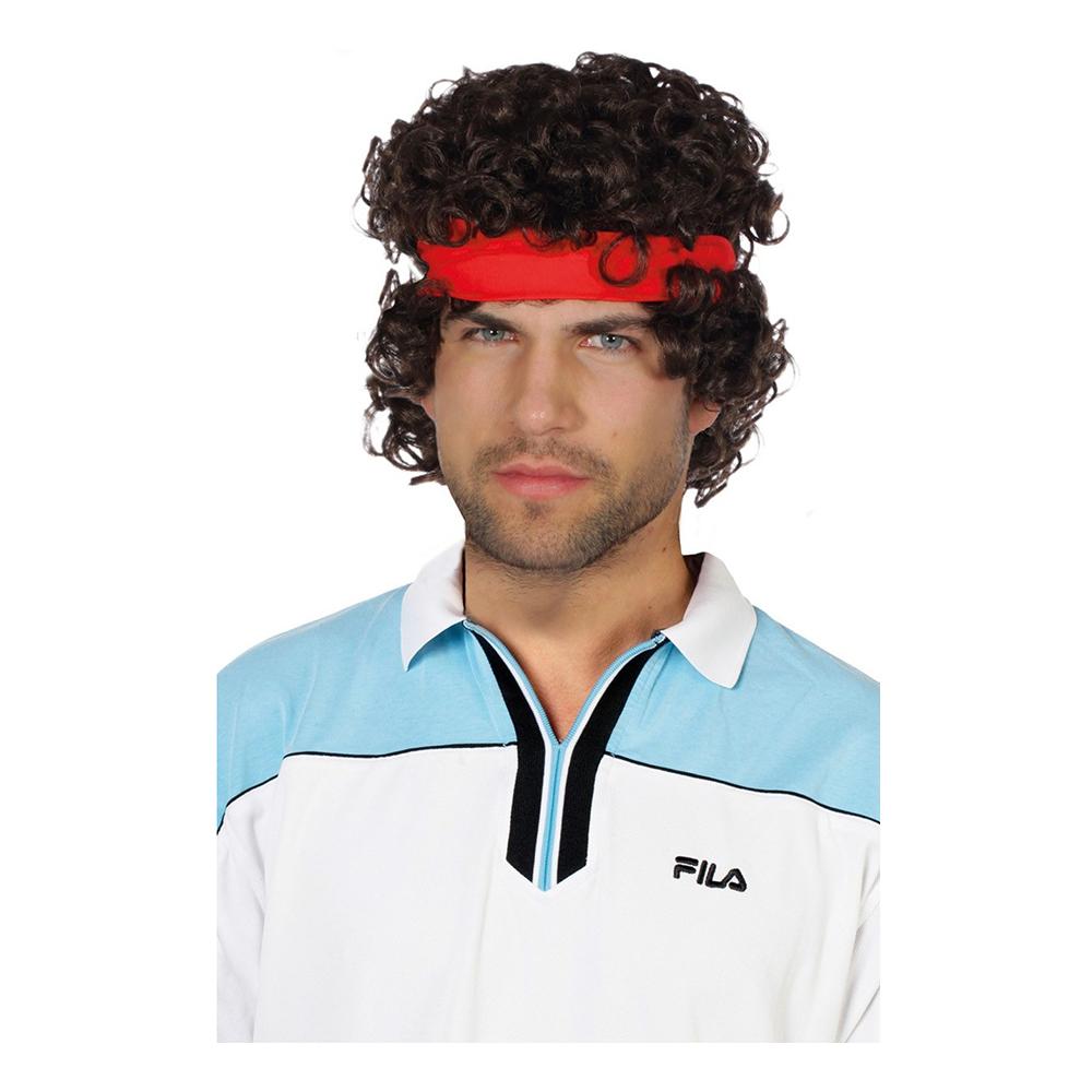 Tennisspelare Peruk Brun - One size