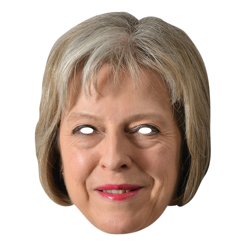 Theresa May Pappmask