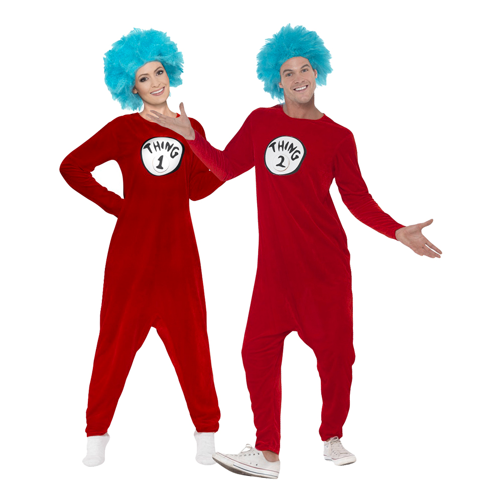 Thing 1 Jumpsuit Maskeraddräkt - Medium till partypris ... 919f04a1e55bd